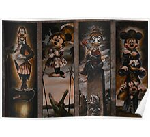 Halloween Haunted Mansion/Haunted House Stretching Portraits Poster