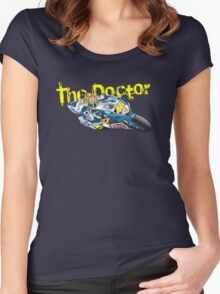 The Doctor. Valentino Rossi Women's Fitted Scoop T-Shirt