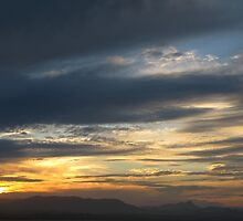 Evening Sky over Byron Bay by Cathy Martin