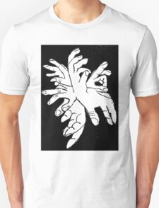 Black White Explosion of Hands T-Shirt