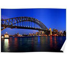 Blue Sky Over Sydney Poster