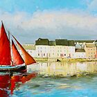 Leaving Port - Galway Hooker going out to sea by conchubar