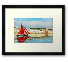 Leaving Port - Galway Hooker going out to sea Framed Print