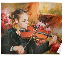 Learning The Violin Poster