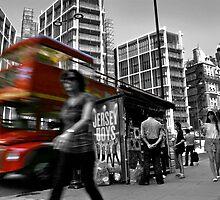 """Big Red Bus, London"" by Bradley Shawn  Rabon"