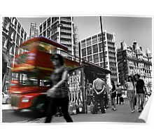 """Big Red Bus, London"" Poster"