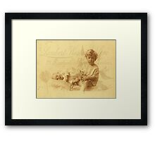 Looking After Baby Framed Print