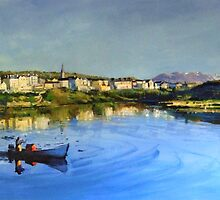 Clifden Harbour in County Galway by conchubar