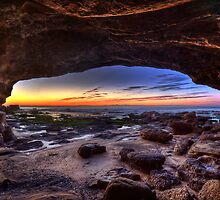 Caves Beach Cave - Swansea NSW by Ian English