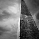 Washington Monument Dark Days by David Piszczek