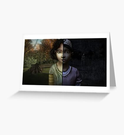 The Walking Dead TWDG Game Clemetine Lee Season 1 2 One Two Greeting Card