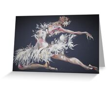 White Swan Greeting Card