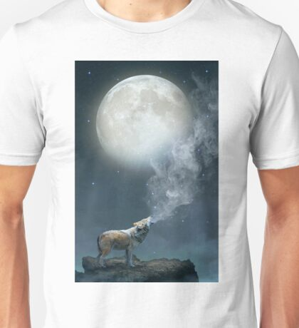 The Light of Starry Dreams (Wolf Moon) Unisex T-Shirt