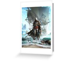 Assassins Creed 4 Black Flag Greeting Card