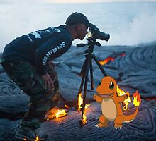 Charmander burning the hell out of a photographer by leolioedits