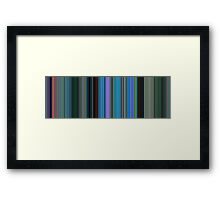 Moviebarcode: Finding Nemo (2003) [Simplified Colors] Framed Print
