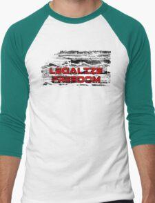 Legalize Freedom Men's Baseball ¾ T-Shirt