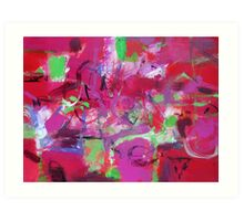 Wild pink purple abstract Art Print