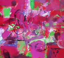 Wild pink purple abstract by natalyborissov