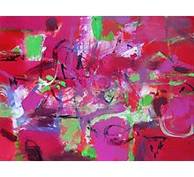 Wild pink purple abstract Photographic Print