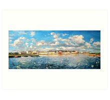 View of Galway Harbour Art Print