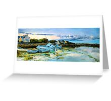 Spiddal Harbour County Galway Greeting Card