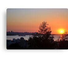 Beirut Skyline at Sunset Canvas Print