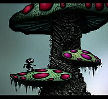 Climbing the Mushroom God 2 by Charcoal76