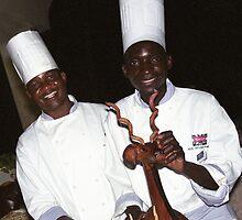 Chefs - Victoria Falls, Zimbabwe by Bev Pascoe
