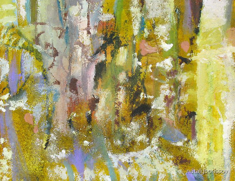 Abstract garden spring blossom trees forest by natalyborissov