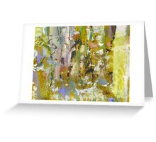 Abstract garden spring blossom trees forest Greeting Card