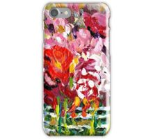 ABSTRACT FLORAL ARRANGEMENT IN GLASS VASE ORIGINAL PAINTING FOR SALE iPhone Case/Skin