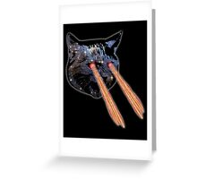 Cat Bacon Lasers  Greeting Card
