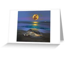 Honu Moon  Greeting Card