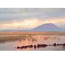 Nephin Dawn, Lough Conn, County Mayo Photographic Print