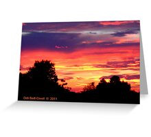 Barstow, FL Sunset Greeting Card