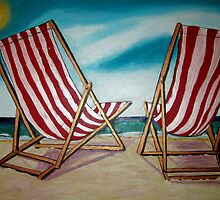 Beach Chairs July11 by gillsart