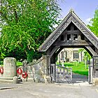 The Lych Gate, Repton Churchyard by Rod Johnson
