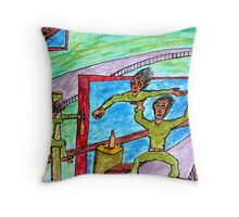 drunken acrobats Throw Pillow