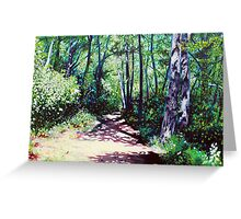 'Sun Shower on the Glen Burney Trail' Greeting Card