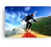 Surfing Canvas Print