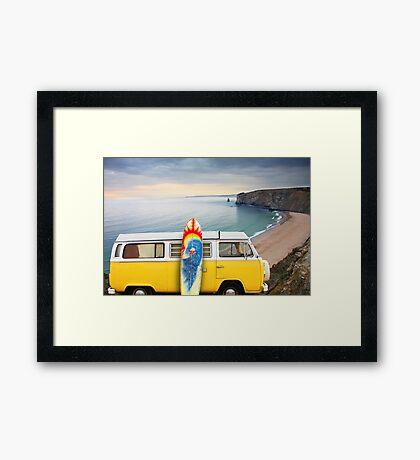 Surfer Van Framed Print