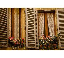 Window into an Italian home Photographic Print