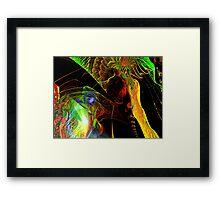 Three Layer Blender #4: Hyperbolic Sundial abstract (UF0367) Framed Print