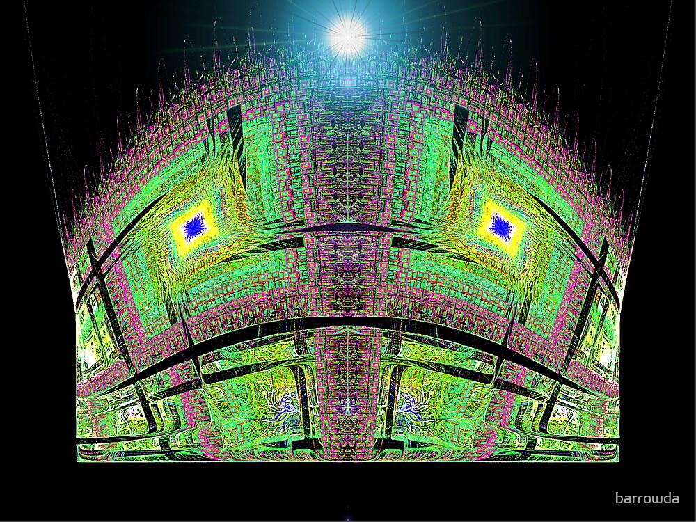 Disc Julian #19: Stadium Exterior at Night  (UF0371)  by barrowda