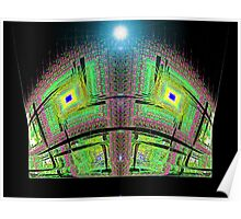 Disc Julian #19: Stadium Exterior at Night  (UF0371)  Poster