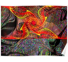 Three Layer Blender #6:  Gnarly Disc Julian abstract (UF0372) Poster