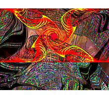 Three Layer Blender #6:  Gnarly Disc Julian abstract (UF0372) Photographic Print