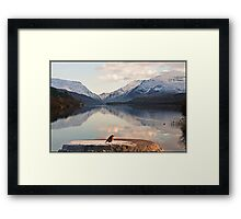 From a robin's point of view Snowdonia Wales Framed Print