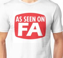 As Seen on FurAffinity (FA) Unisex T-Shirt